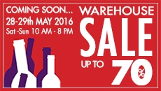 Warehouse SALE 28th - 29th May 2016
