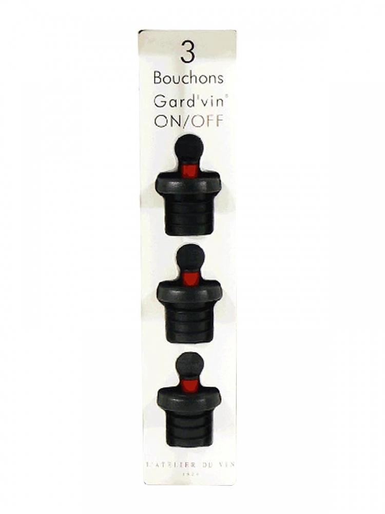 L'Atelier Gard'Vin On/Off 3 Bouchons 950458