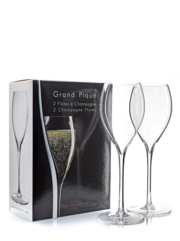 L'Atelier Glass Flute Grand Pique-2pces 952186