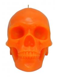 Modern Alchemy Candle Memento Mori 9001O Skull with Mandible Orange
