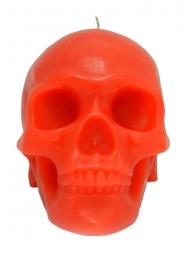 Modern Alchemy Candle Memento Mori 9001R Skull with Mandible Red