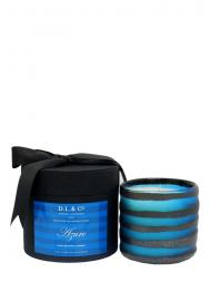 Modern Alchemy Candle Hand Blown Rayure Collection 4111 Azure Thick Stripe