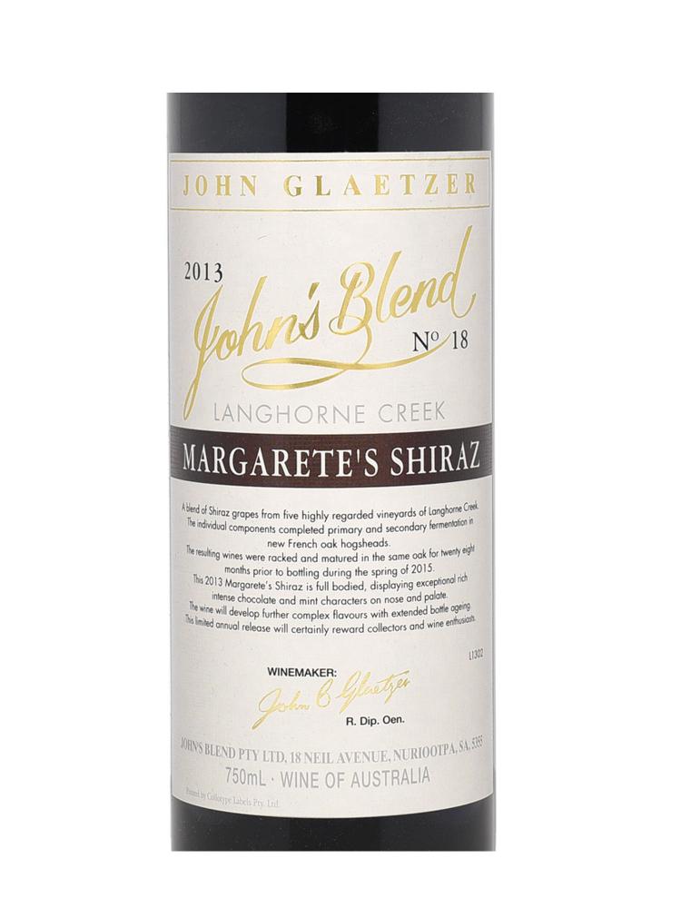 John's Blend Margarete's Shiraz 2013 - 6bots
