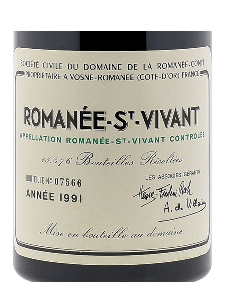 DRC Romanee St Vivant Grand Cru 1991