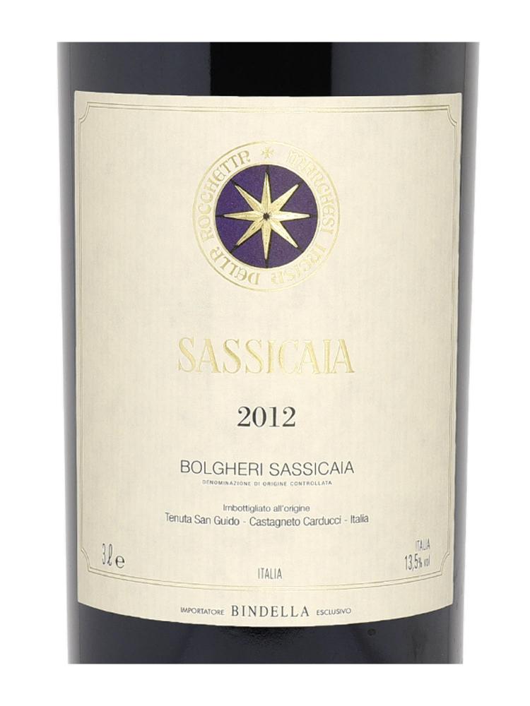 Sassicaia Vino Da Tavola 2012 3000ml