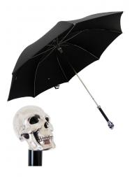 Pasotti Umbrella MAW33 Skull Handle Black