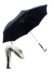 Pasotti Umbrella MAW31 Snake Handle Blue