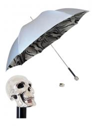Pasotti Umbrella UMW33 Skull Handle Grey Gradient
