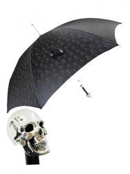 Pasotti Umbrella UAW33 Skull Handle Black Skull Print