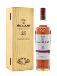 Macallan  25 Year Old Sherry Oak Single Malt w/Wooden Box 700ml