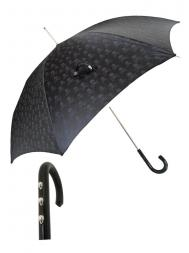 Pasotti Umbrella UAW33 Skull Three Heads Handle Black Skull Print