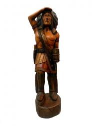 Wooden Hand Carved American Indian Statue