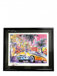 Lithograph Painting With Frame