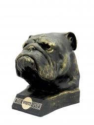 Alfred Dunhill Sculpture POSWSBULLYB Bulldog Bust