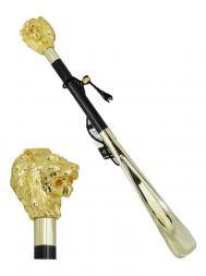 Pasotti Shoehorn Lion W37 Gold Handle