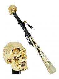 Pasotti Shoehorn Skull Gold W33 Gold
