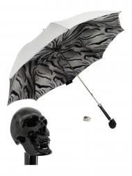 Pasotti Umbrella UMW33 Skull Black Handle Grey Gradient