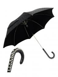 Pasotti Umbrella UAH20U Studd Handle Black Skull Print