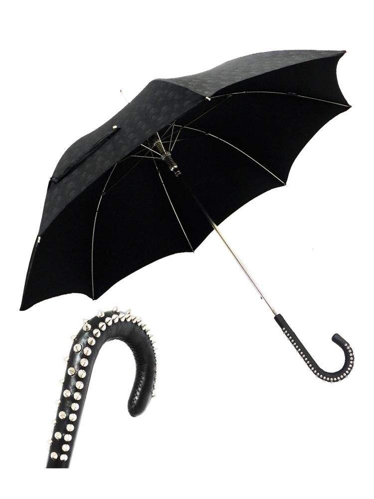 Pasotti Umbrella UAH20U Studd Handle Black Skull Print
