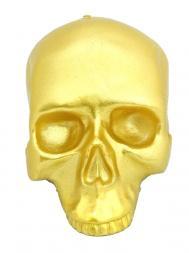 """现代魔幻蜡烛 """"凡人""""1516 骷髅头 中型镀金金属制品"""