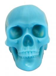 Modern Alchemy Candle Memento Mori 9001B Skull with Mandible Blue