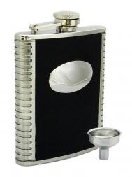 Peterson Hip Flask FLA141 Pattern w/Engraving Plate 6oz
