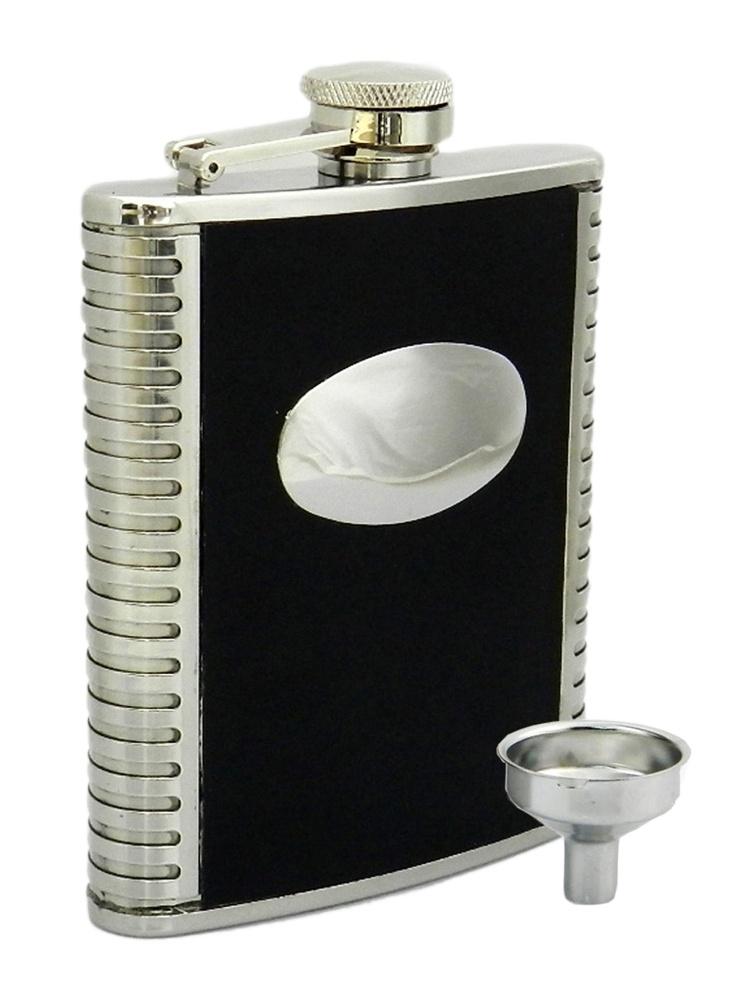 Peterson Hip Flask FLA141 Pattern w/Engraving Plate 6oz