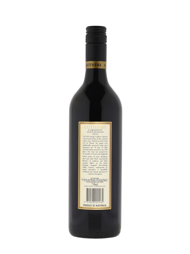 Kay Brothers Amery The Cuthbert Cabernet Sauvignon 2016