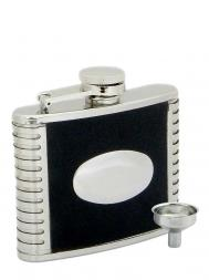 Peterson Hip Flask FLA142 Pattern w/Engraving Plate 4oz