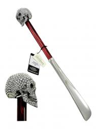 Pasotti Shoehorn Skull Swarovski W333 Red Handle