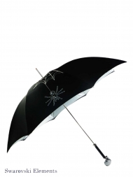 Pasotti Umbrella UMW333 Skull Swarovski Handle Black with Spider