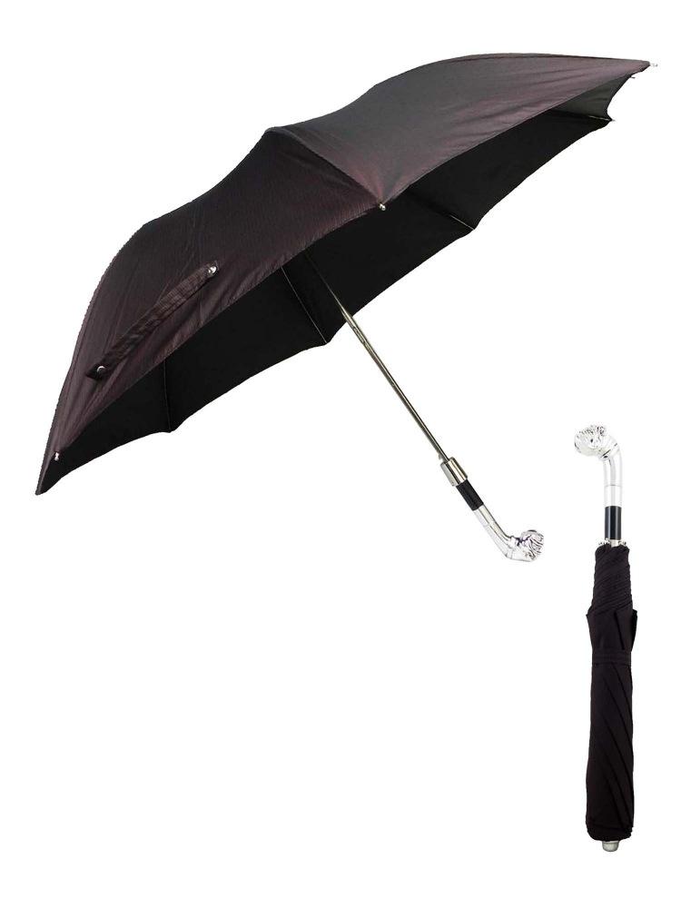 Pasotti Umbrella FAW38 Bulldog Handle Burgundy