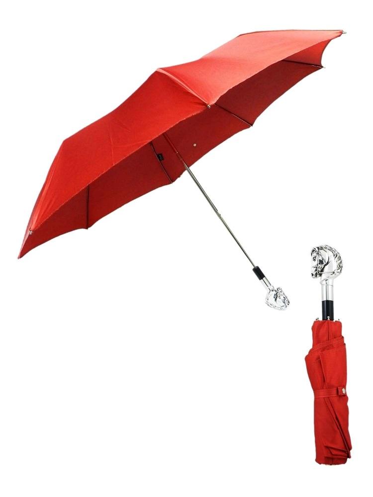 Pasotti Umbrella FMW41 Horse Handle Burgundy Gradient