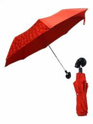 Pasotti Umbrella FMW33 Skull Black Handle Red Skull Print