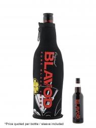 Blavod Original Black Vodka (clear bottle) with cooler sleeve