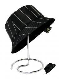 Pasotti Rain Hat Reversable Plain Black Lines