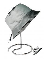 Pasotti Rain Hat Reversable Plain Grey Gradient/Tiger