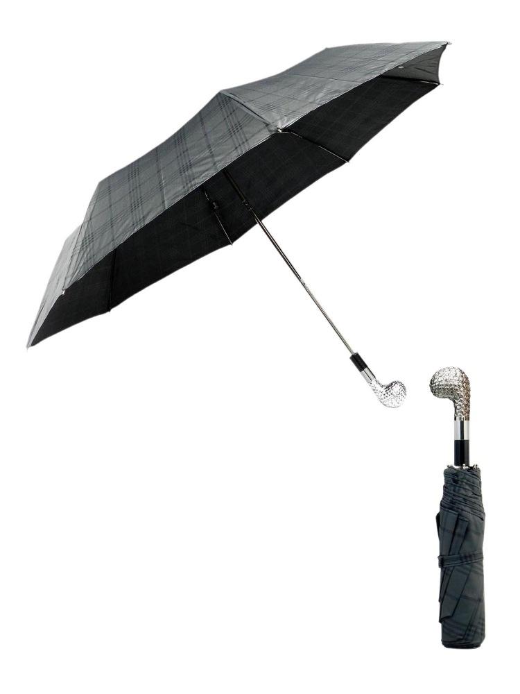 Pasotti Umbrella FMW42 Golf Club Handle Grey Cross