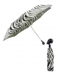 Pasotti Umbrella FMW33 Skull Black Handle Zebra