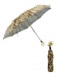 Pasotti Umbrella FMW33 Skull Gold Handle Panther