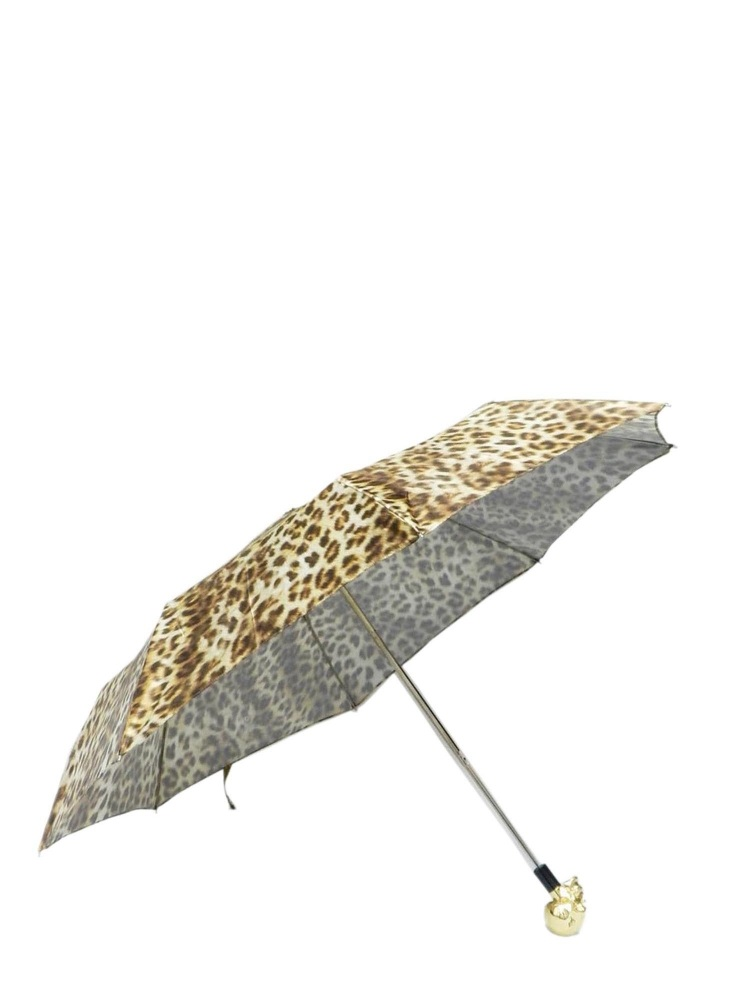 Pasotti Umbrella FMW33 Skull Gold Handle Panther