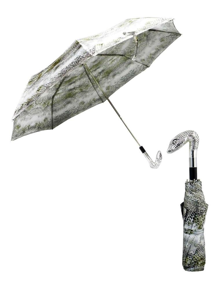 Pasotti Umbrella FMW31 Snake Head Handle Snake Print