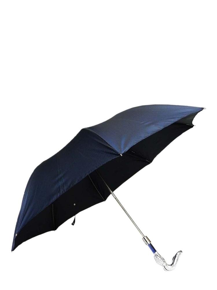 Pasotti Umbrella FAW09 Snake Pearl Handle Blue