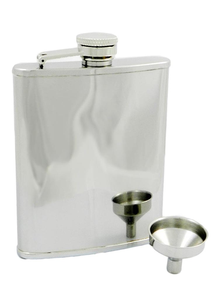 Peterson Hip Flask FLA131 Polish Chrome 6oz