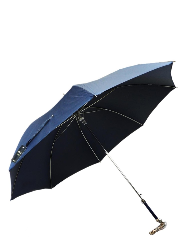 Pasotti Umbrella MAW98 Dragon Brass Pearl Handle Blue