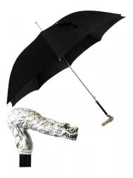 Pasotti Umbrella MAW98 Dragon Brass Handle Black