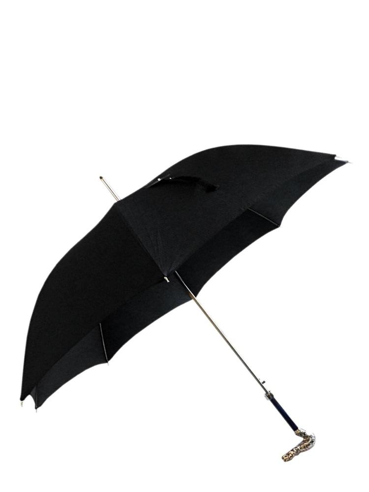 Pasotti Umbrella MAW98 Dragon Brass Handle Black