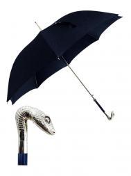 Pasotti Umbrella MAW31 Snake Pearl Handle Blue
