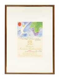 Picture Mouton 1982 with Frame