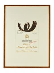 Picture Mouton 2007 with Frame